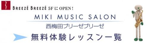 音楽教室 西梅田ブリーゼ体験一覧