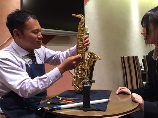 管楽器リペアマンによる点検