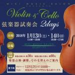 弦楽器試奏会2018年1月
