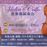 バイオリンチェロ試奏会